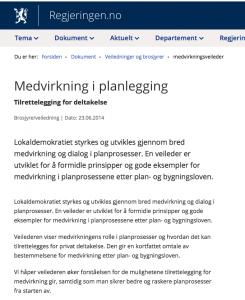 Informasjon om medvirkning i planlegging og planprosesser