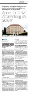 Amalienborg ikke informert