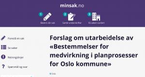 Forslag bestemmelser for medvirkning i planprosesser i Oslo samlet over 300 underskrifter